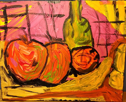 16x20 acrylic on Canvas  Meal of Fruit by Bruce love