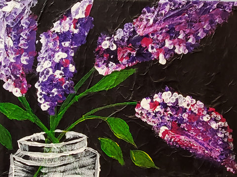 7 x 12 Lilacs on stretched canvas by Matt , #126