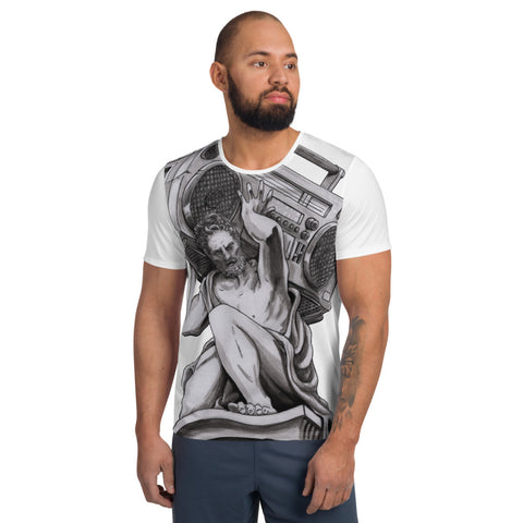 Radio Atlas .All-Over Print Men's Athletic T-shirt by Creative Pursuit