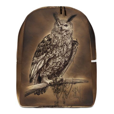Clockwork owl Minimalist Backpack