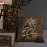 Clockwork Owl Basic Pillow