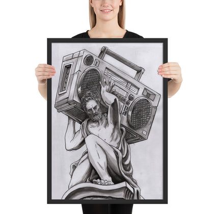 Radio Atlas by Spy At Creative Pursuit !  Framed matte paper poster