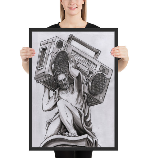 Radio Atlas by Spy At Creative Pursuit!  Framed matte paper poster