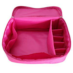 Pink travel makeup bag vanity case