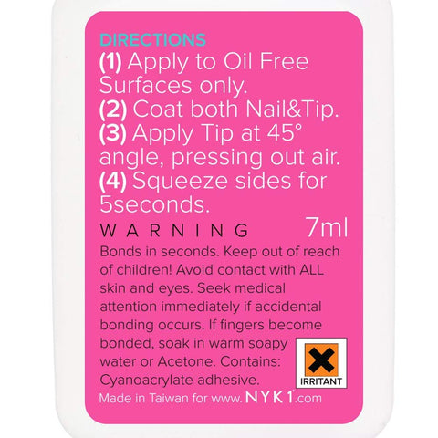 NYK1 Nail Bond Glue Adhesive ideal for Acrylic False Nails or Art