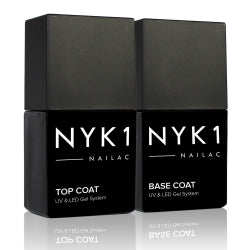 NYK1 Clear top coat nail gel polish and Base Coat from Nailac range