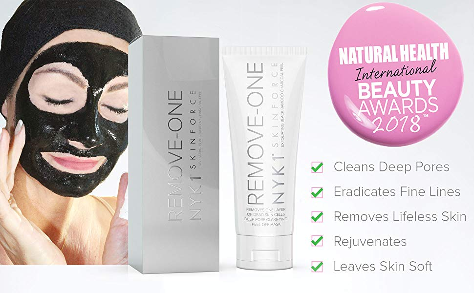 cleans deep pores, eradicates fine lines, removes lifeless skin, rejuvenates, skin mask