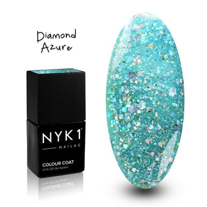 NYK1 Nailac Diamond Azure Aqua Blue Green Gel Polish for Nails