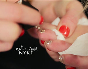 NYK1 Aztec Gold Gel Nail Polish