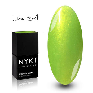 Nailac Lime Zest Green Glitter Gel Polish for Nails