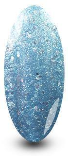 Nailac Ice Ice Baby Blue Glitter Sparkle Nail Gel Polish