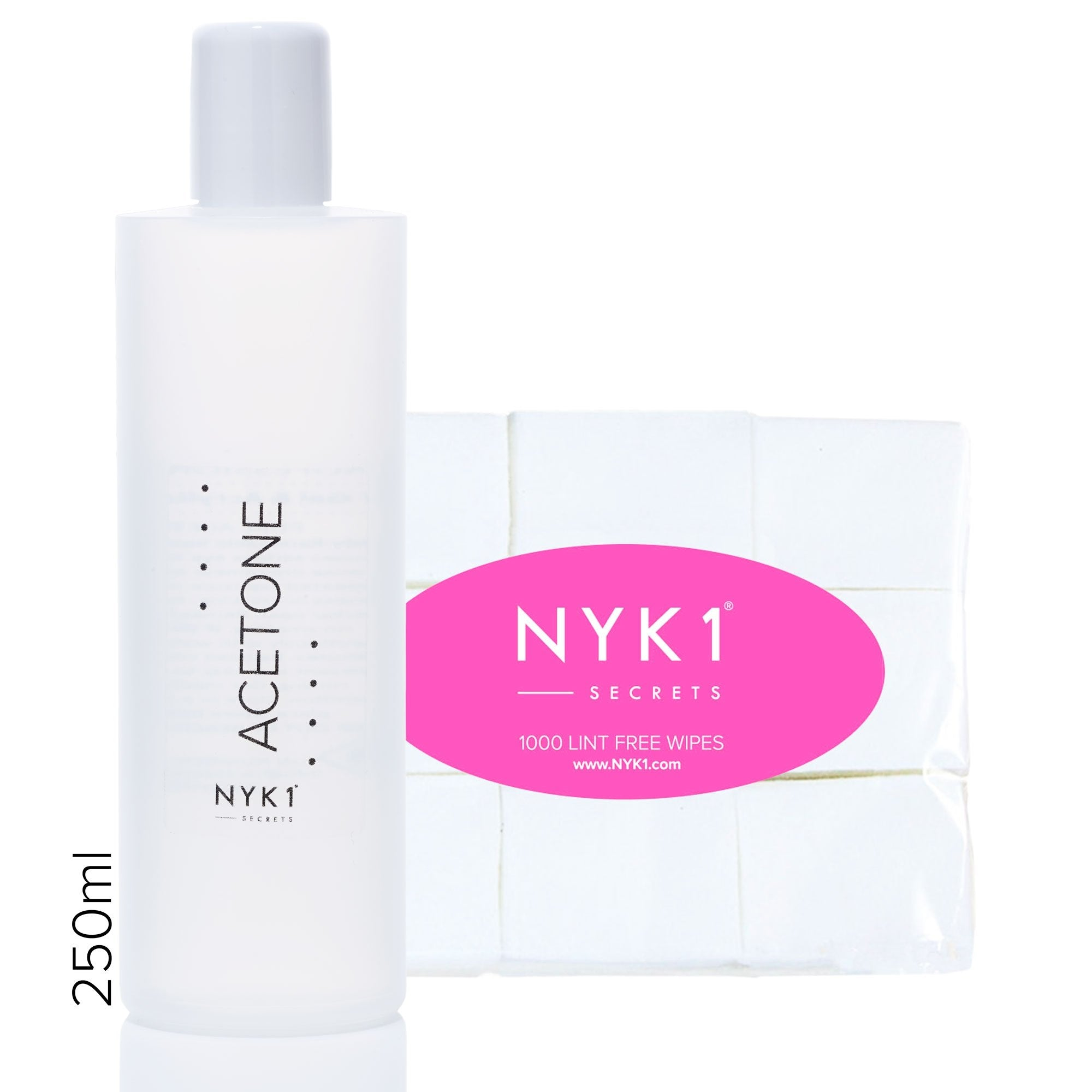 NYK1 Acetone and wipes for professional gel nail polish remover