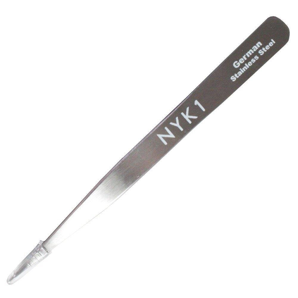 NYK1 Precision Pointy Tweezers (Silver / Pink)