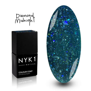 NYK1 Nailac Diamond Midnight Blue Glitter Gel Polish for Nails