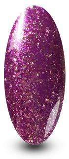 Nailac Purple Party Girl Sparkle Gel Nail Polish