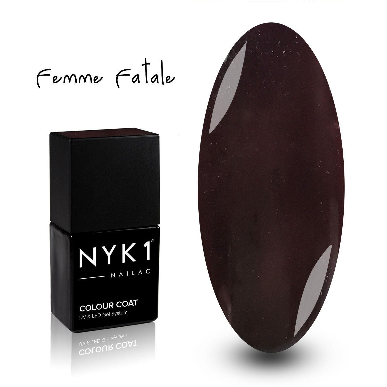 NYK1 Femme Fatale Deep Brown Gel Nail Polish