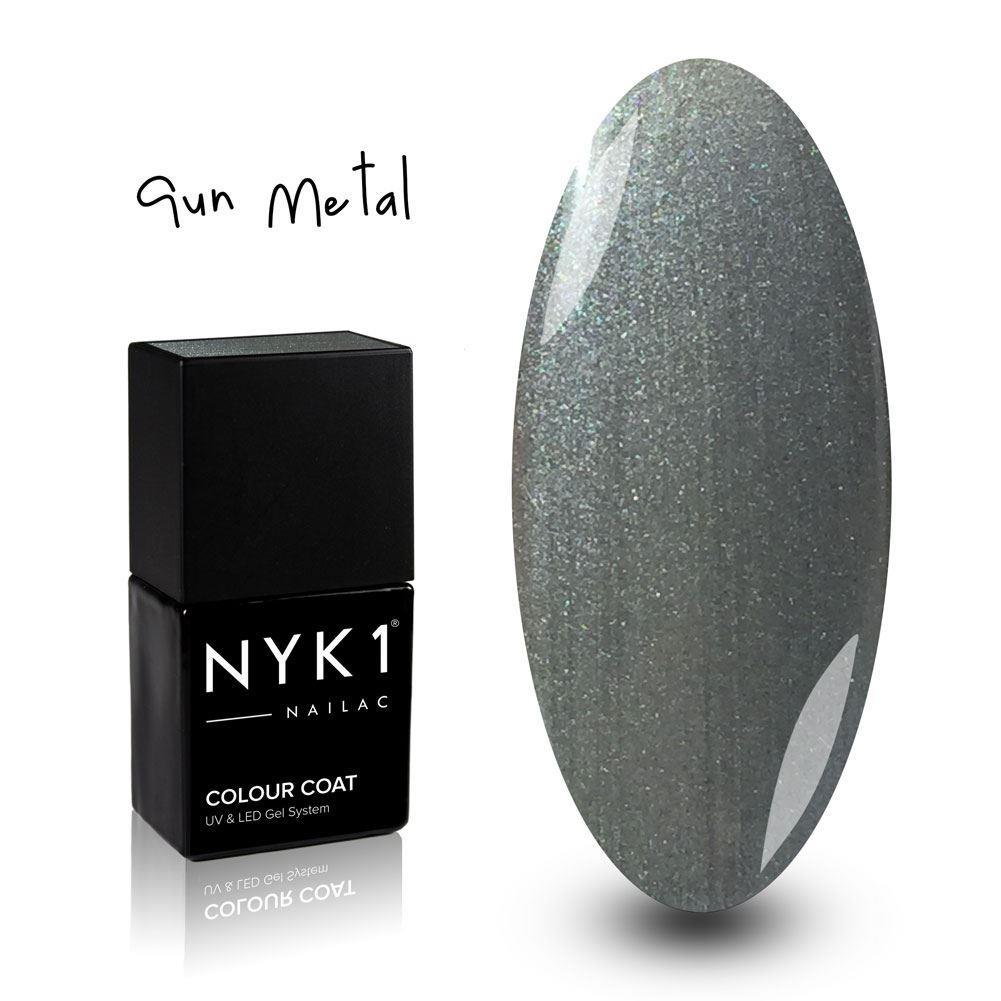 Nailac Gun Metal Grey Glitter Sparkle Gel Polish for Nails