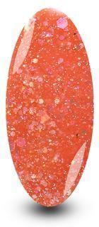 Nailac Diamond Coral Peach Orange Sparkle Gel Nail Polish