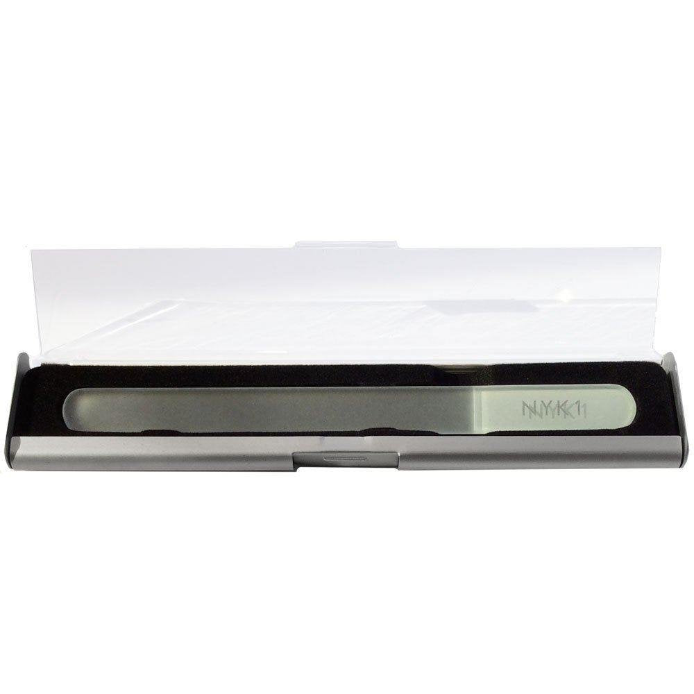 NYK1 White Rounded Crystal Glass Nail File