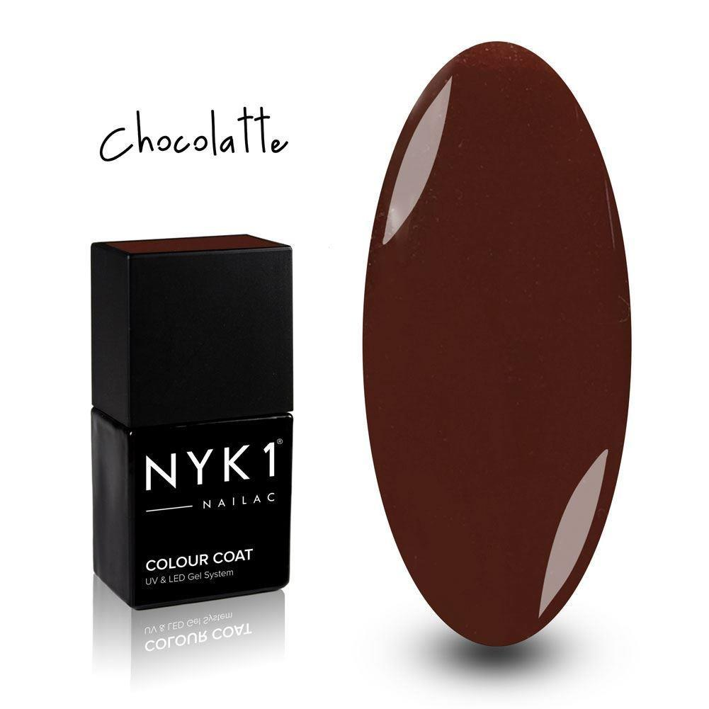 NYK1 Nailac Chocolatte Smooth Brown Gel Nail Polish