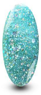 Nailac Aqua Blue Diamond Azure Glitter Nail Polish