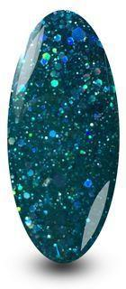 Nailac Diamond Emerald Green Nail Gel Glitter Sparkle Polish