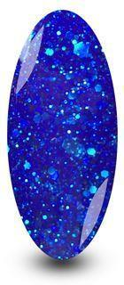 Nailac Gel Nail Polish Blue Glitter Gel Polish