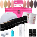 NYK1 LED 8 Colour Gel Nail Polish Starter Kit Gift Pack