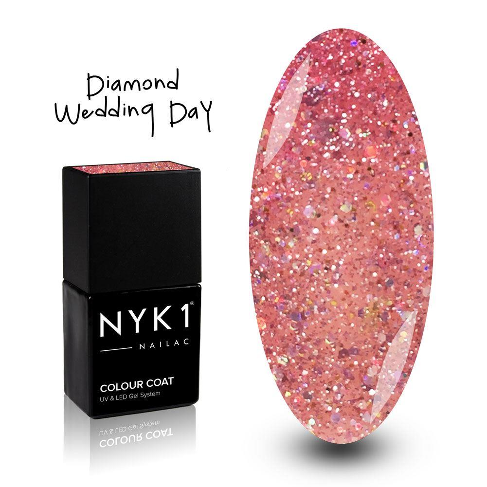 NYK1 Nailac Wedding Day Pink Sparkle Glitter Gel Polish for Nails