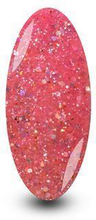 Nailac Diamond Ballet Pink Glitter Gel Polish