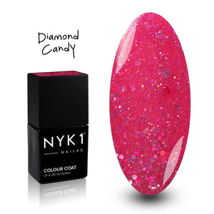 NYK1 Pink Diamond Candy Sparkle Glitter Gel Polish for Nails