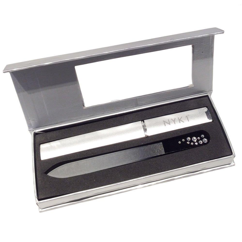 NYK1 Black Crystal Glass Nail File