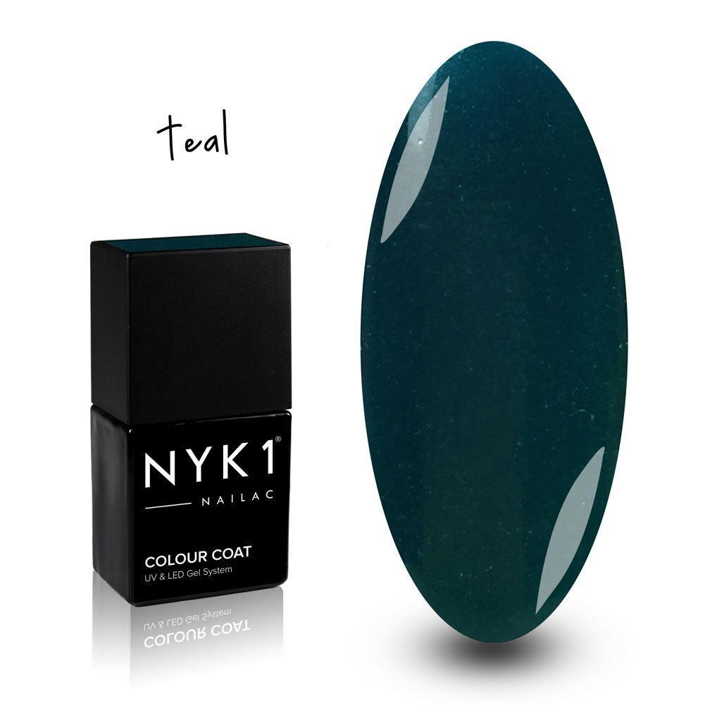 Nailac Teal Green Gel Polish for Nails by NYK1