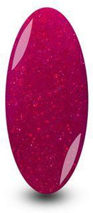 Nailac Red Sparkle Glitter Gel Nail Polish