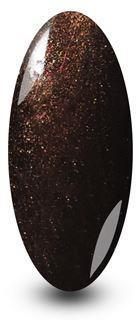 Fig Brown Glitter Sparkle Gel Nail Polish by NYK1