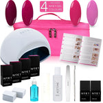 NYK1 LED Lamp Gel Polish Atlanta Kit with 4 Colour Gel Nail Polish Gift Starter Pack Set