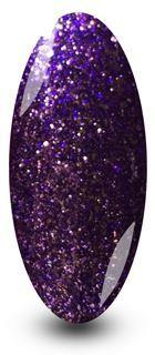 Nailac Purple Quality Street Sparkle Nail Gel Polish