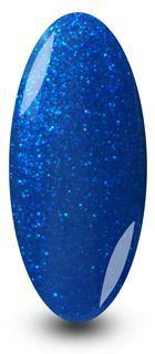 NYK1 Gel Nail Polish is mixed with light and dark blues with a fine sparkle