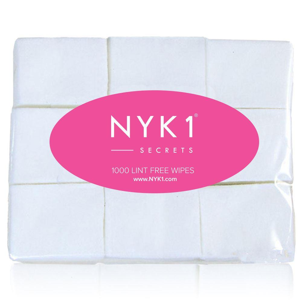 NYK1 1000 Nail Wipes for the removal of gel nail polish and acrylic nails