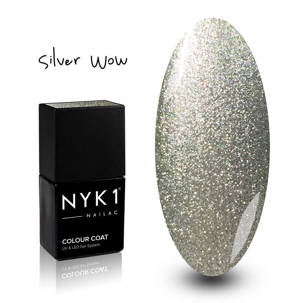 NYK1 Nailac Silver WOW Glitter Sparkle Gel Polish for Nails
