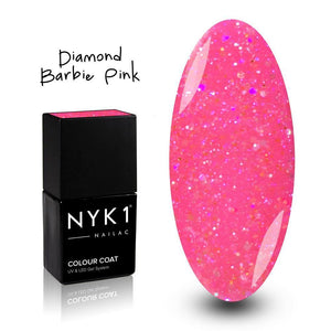 NYK1 Diamond Barbie Pink Sparkle Gel Polish for Nails