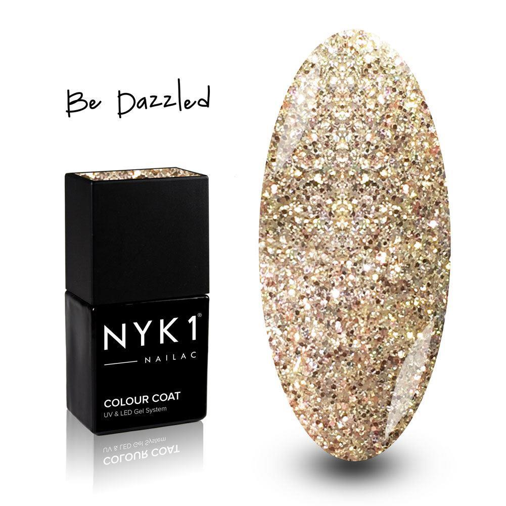 NYK1 Be Dazzled Gold Glitter Gel Nail Polish