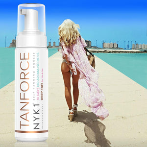 NYK1 Tan Force Tan Invisible Body and Face Tanning Foam Mousse