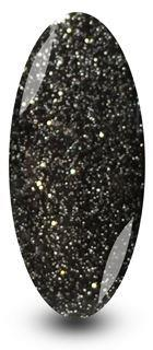 Nailac Graphite Sparkle Black Glitter Gel Nail Polish