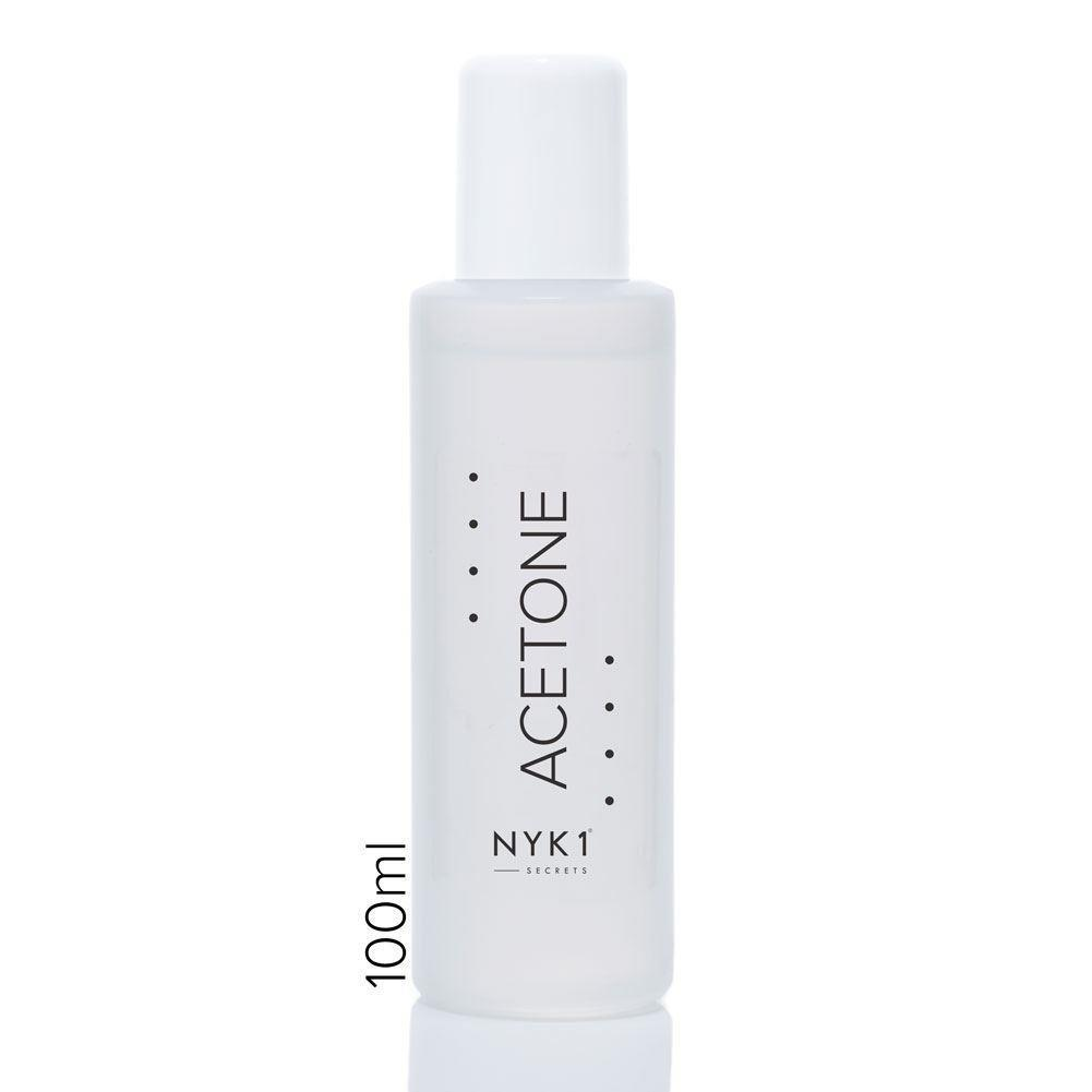 NYK1 Acetone 100ml with Metal Cuticle Pusher and Soak Off Bowls