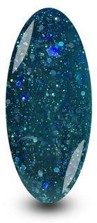 Nailac Diamond Midnight Glitter Blue Gel Polish