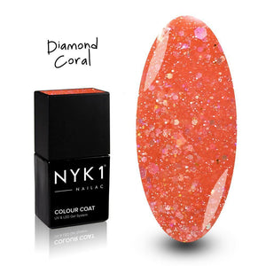 Diamond Coral Gel Nail Polish