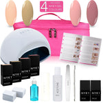NYK1 LED Lamp Gel Polish Manhattan Kit with 4 Colour Gel Nail Polish Gift Starter Pack Set