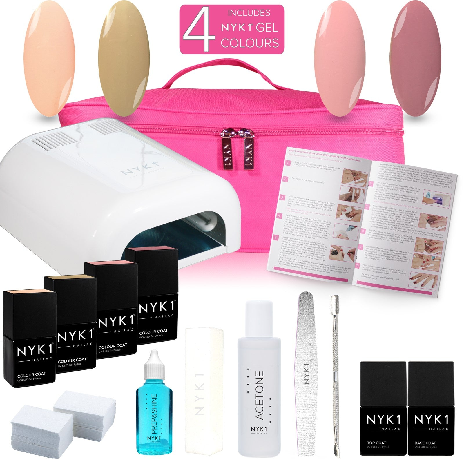 NYK1 Manhattan Kit with 4 Colour Gel Nail Polish