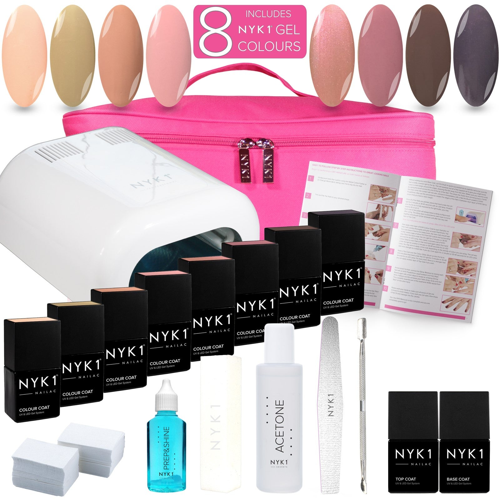 NYK1 Hollywood Gel Nail Starter Kit with 8 Colours Gift Set